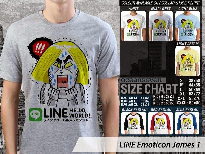 KAOS IT LINE Emoticon James 1 Social Media Chating distro ocean seven