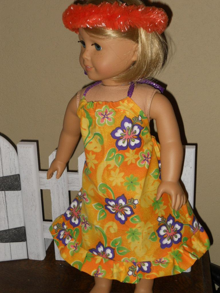 18 Inch Doll Clothes American Girl Luau Dress