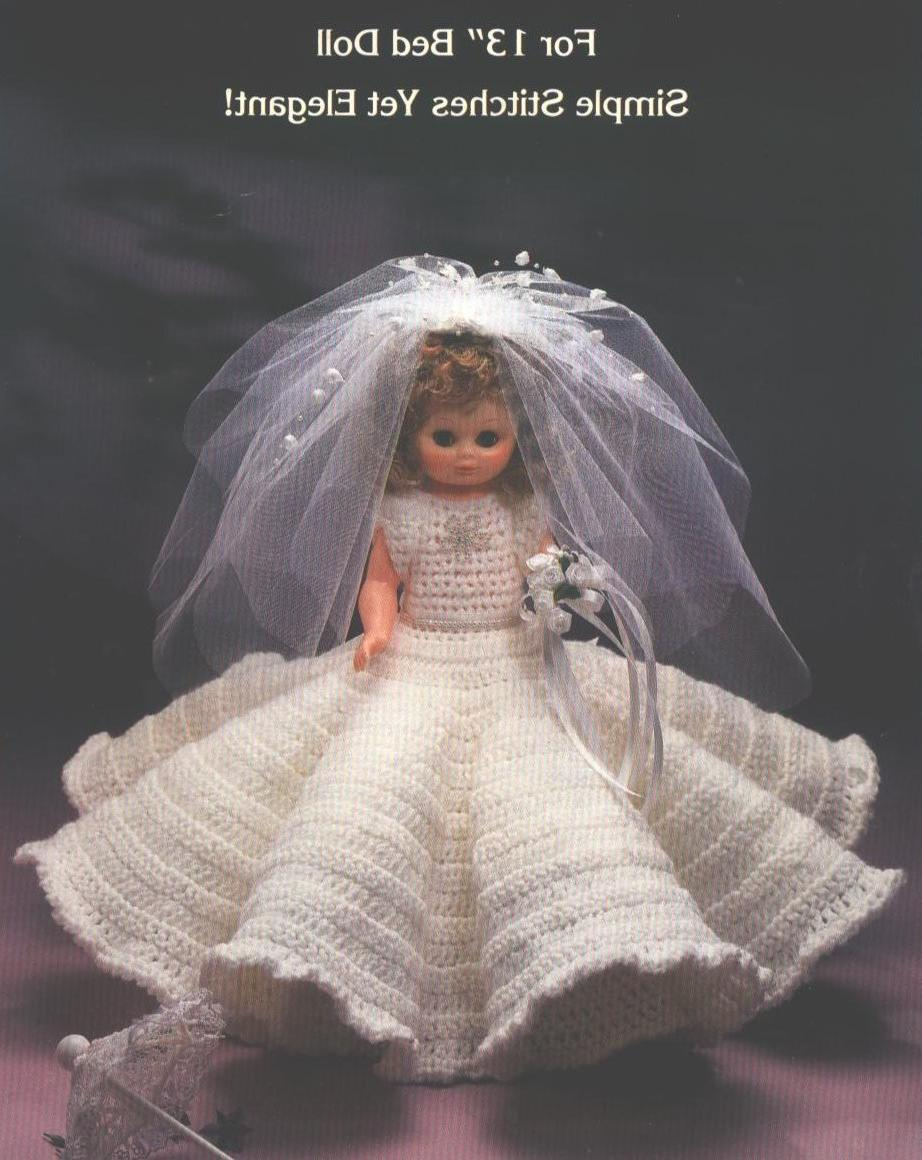 1986 Vintage Crochet Instruction Leaflet, Bridal Gown to Crochet for 13 Inch