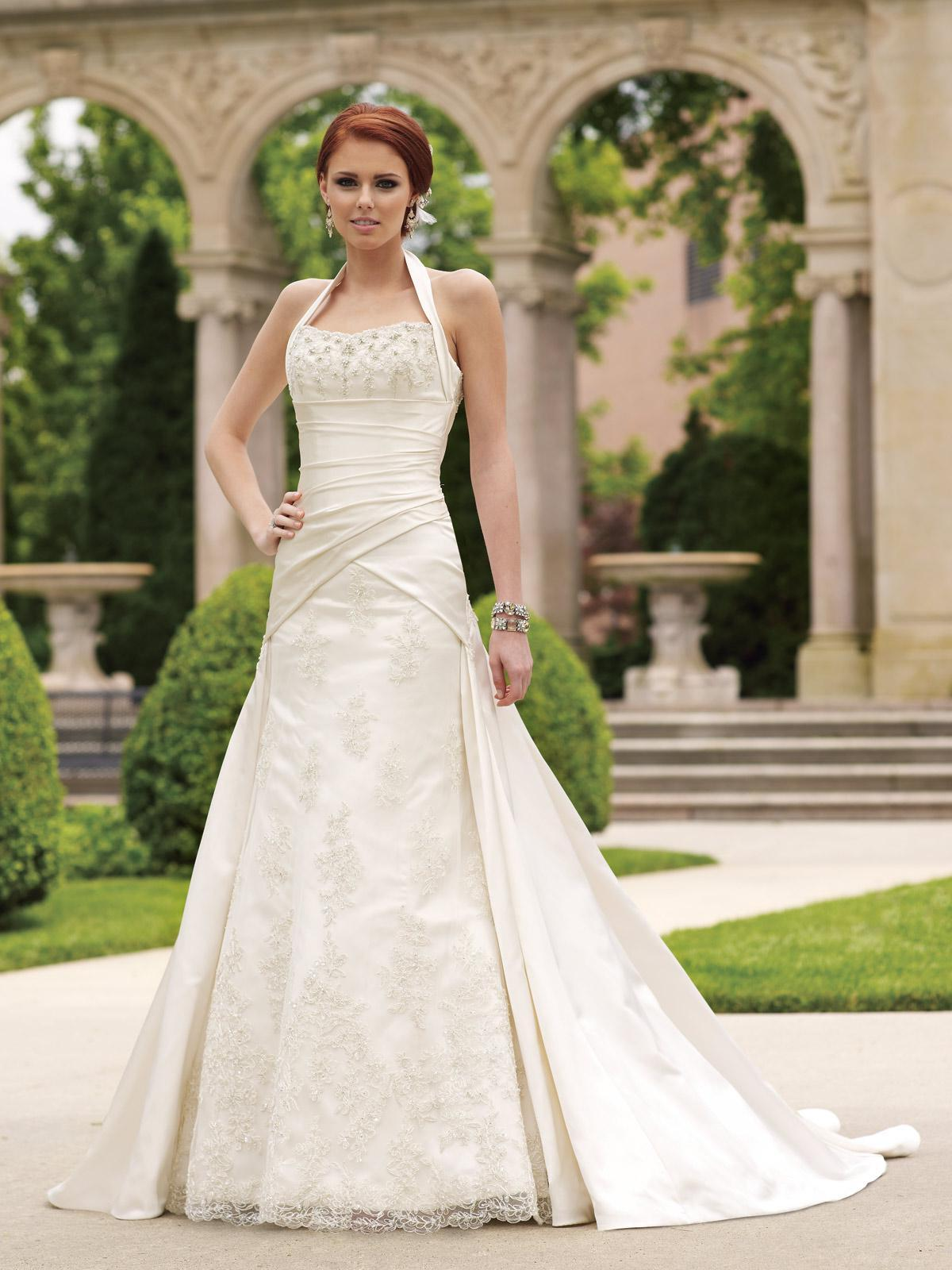 Ivory Wedding Dress Halter