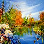 Rivière à l'automne, huile,24 x 30 po.