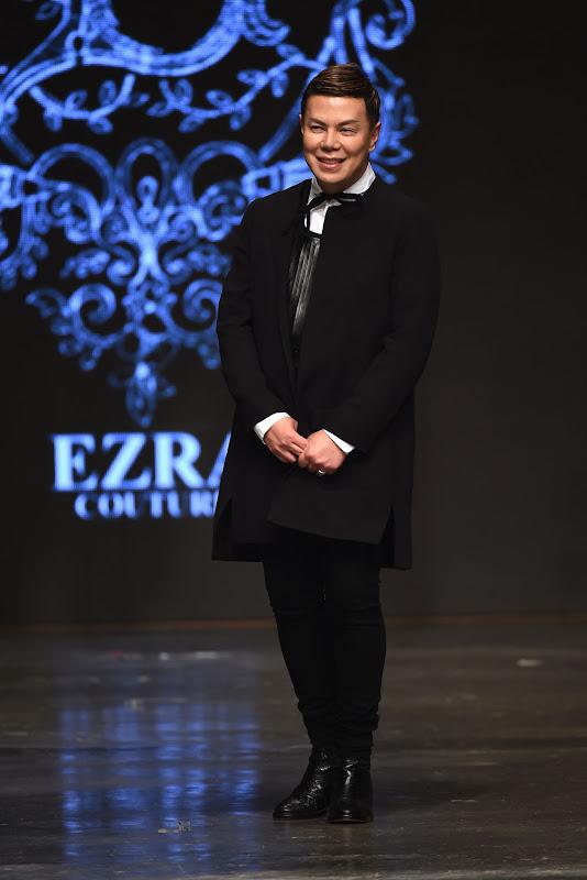 DUBAI, UNITED ARAB EMIRATES - APRIL 10:  Designer Ezra walks the runway at the Ezra show during Dubai Fashion Forward April 2015 at Madinat Jumeirah on April 10, 2015 in Dubai, United Arab Emirates.  (Photo by Ian Gavan/Getty Images for Fashion Forward)