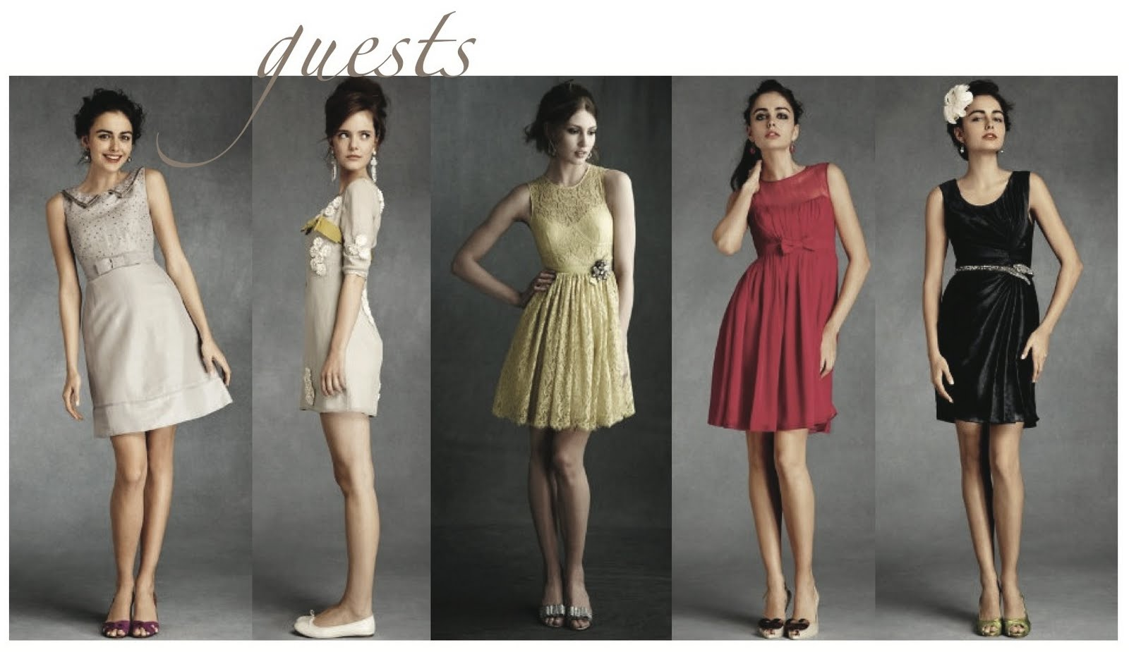 dresses guests to wear to a