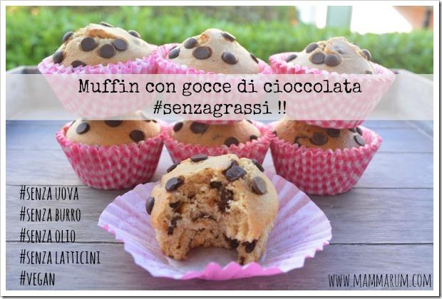 muffin vegan gocce di cioccolata