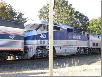 IMG_8420 Amtrak F59PHI #463 in Aurora, Oregon on August 15, 2007