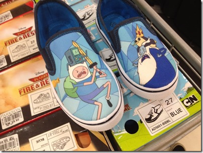 Aventure Time Canvas Slip-ons