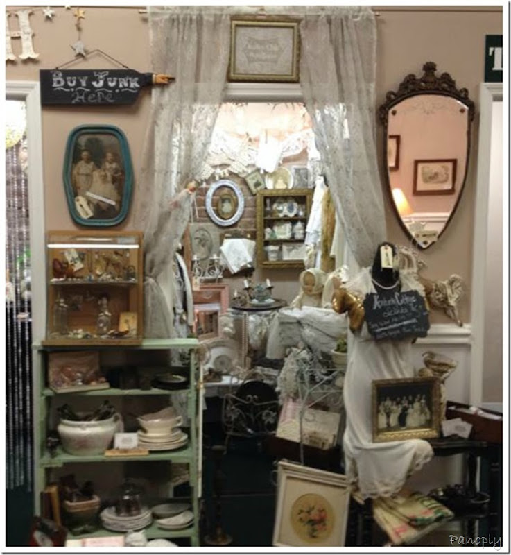 Junky Chic Booth  filled with treasures