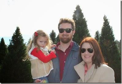 Zoey, Daddy, & Mommy @ the Christmas Tree farm6