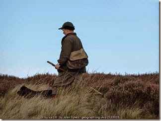 Gamekeeper and his dog Northumberland 2010