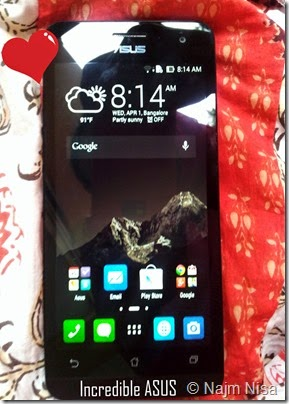 Incredible zenfone 5