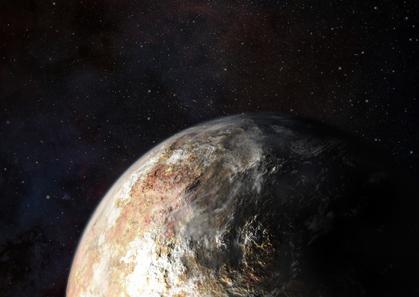 ilustração de nuvens na atmosfera tênue de Plutão