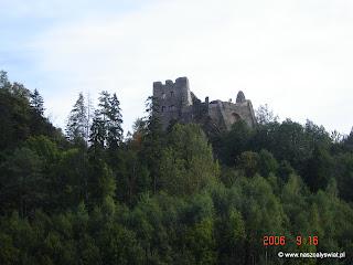 Ruiny zamku w Czorsztynie