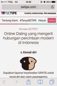 setipe dotcom, jodoh, setipe, online dating
