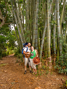 We passed some really cool and really HUGE bamboo!  One of the women with us said people used to make buckets out of this bamboo.