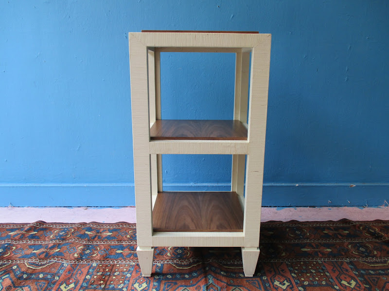 Tiered Seagrass End Table
