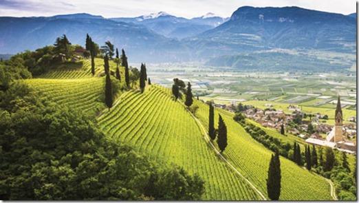 Região de Trentino na Itália