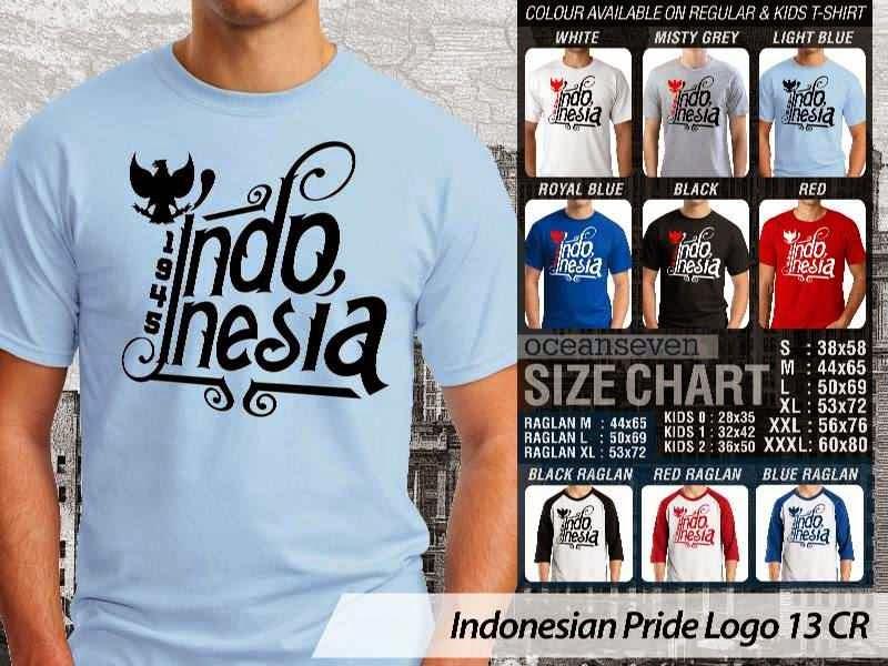 KAOS 1945. Indonesia Indonesian Pride Logo 13 distro ocean seven