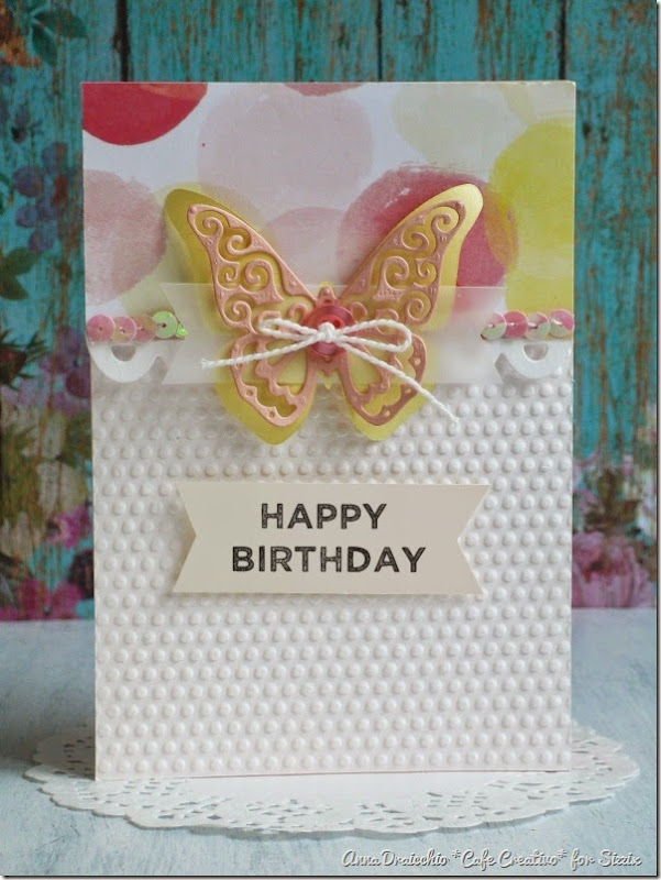 cafe creativo - sizzix big shot plus starter kit - butterfly card (3)