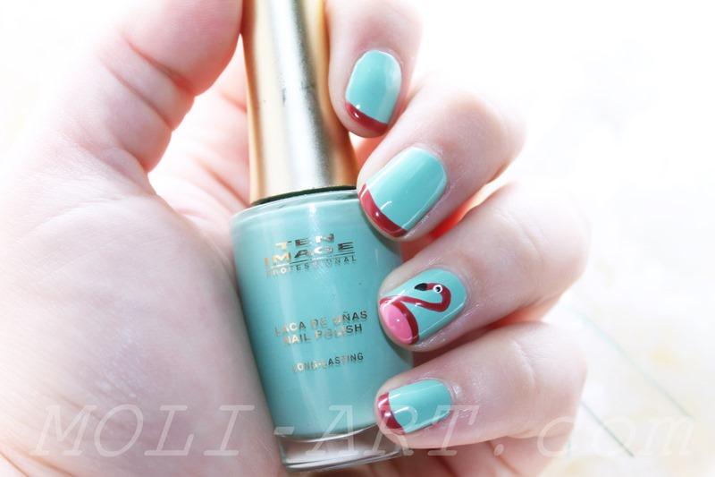 flamingo-nail-art