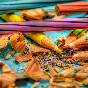 Color pencil by Fitria Ramli - Artistic Objects Still Life ( pencil, abstract, color, still life, artistic, object, nikon, , hdr )