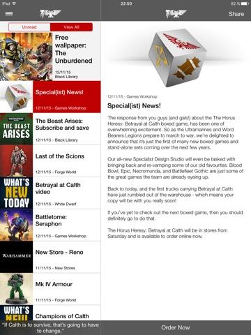 Warhammer the App anuncia la creación de un equipo de diseño para juegos de especialista