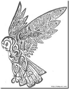 dibujos de buhod en blanco y negro (28)