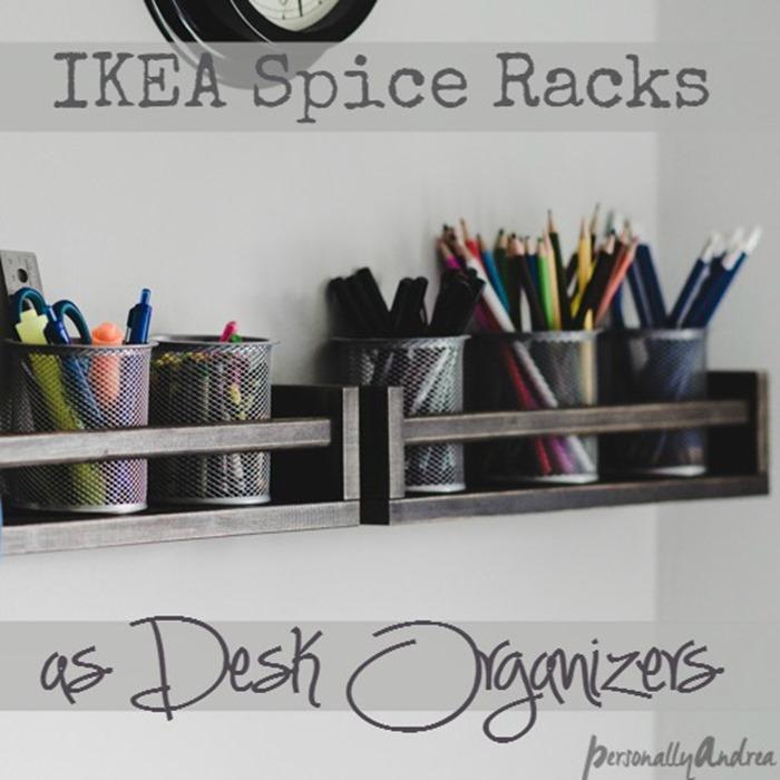 Ikea spice racks as desk organizers personally andrea - Ikea desk organizer ...