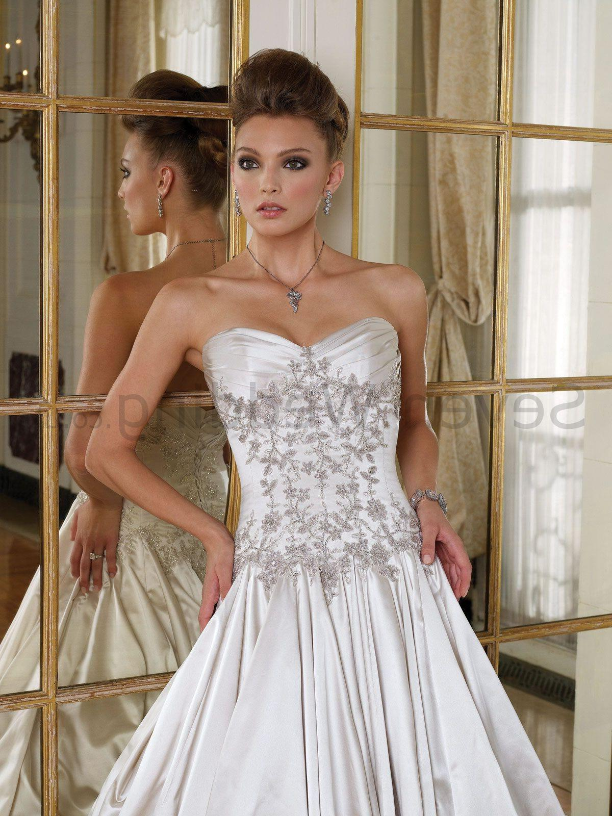Satin Ball Gown uniquely Pleated Sweetheart Neckline Dipped Corset Back