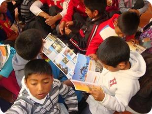Los niños recibieron información y folletería de La Costa