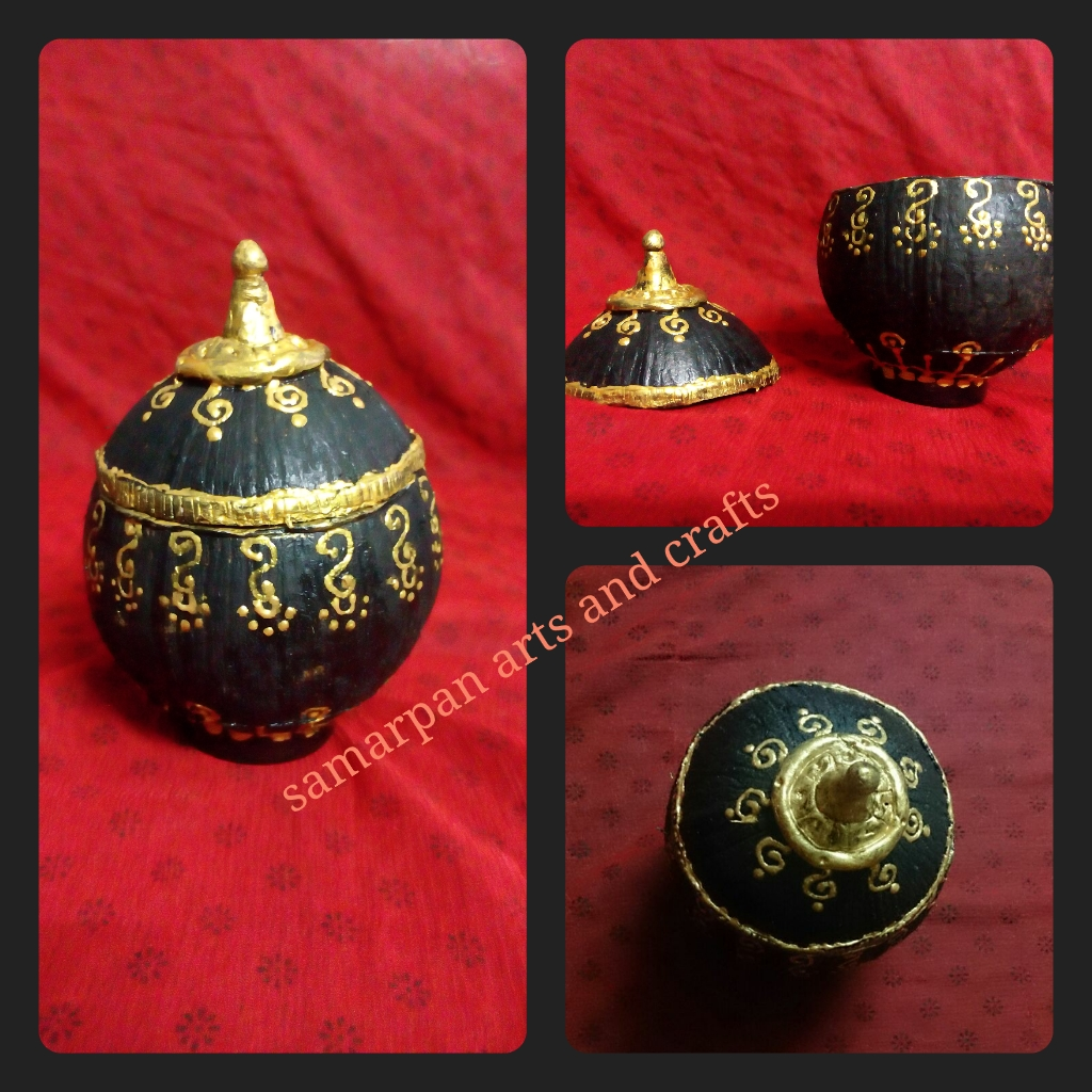 Samarpan arts and crafts coconut shell art best for Craft work best out of waste