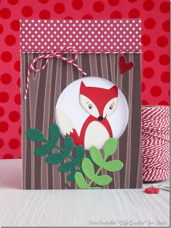 Fox card - Sizzix - Big Shot Plus - Die Cutting - by cafecreativo (1)
