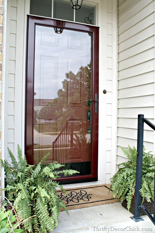 Glass Storm Doors : Small but mighty from thrifty decor chick