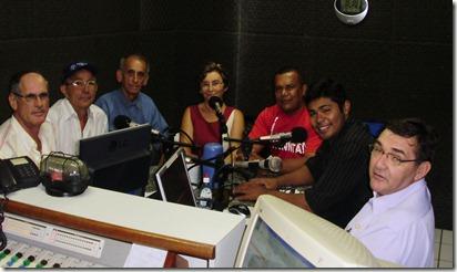 Rádio debate em 16-10-2008, Danúsio Melo, Manuel Ximenes, Sebastião, Sefisa, Erandir Silva, Vadick Mesquita, Jacinto Pereira
