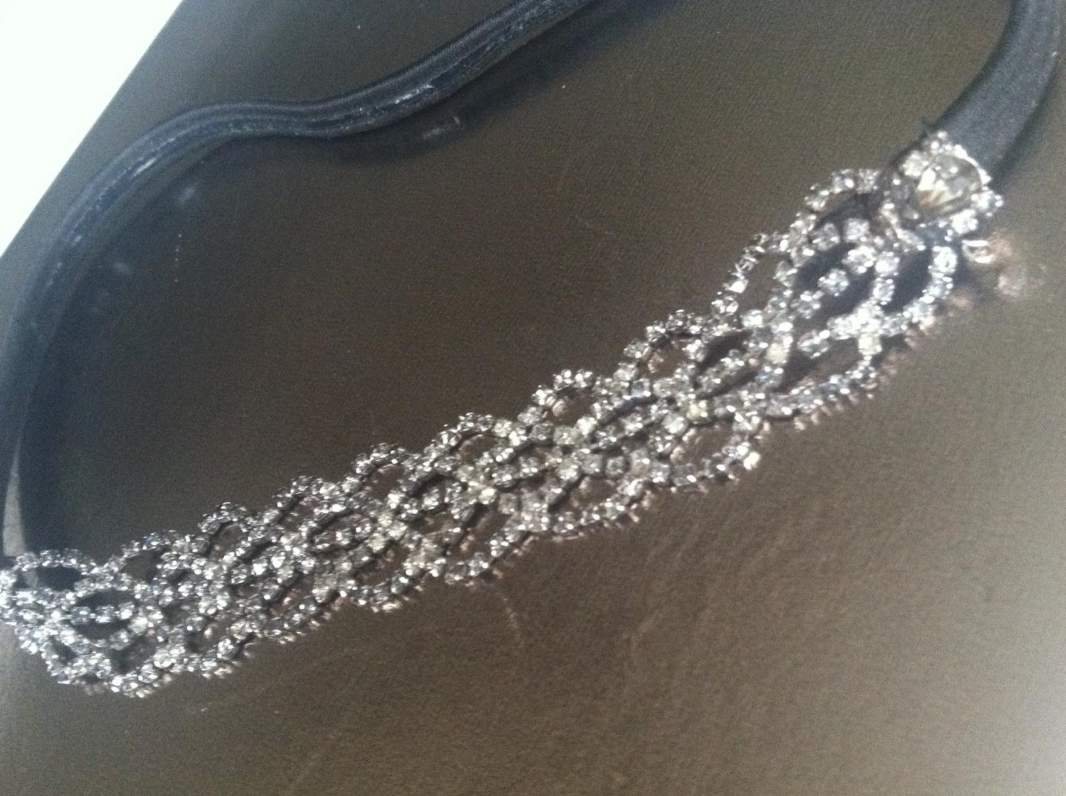 Rhinestone Headband - Bohemian Wedding-Bridal Holiday- Accessories