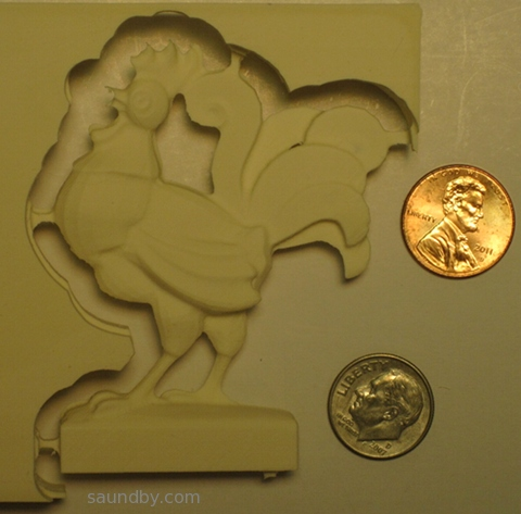 CNC 3D Rooster Back Side cut using MicroCarve A4 CNC Router