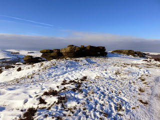 Rock Formations On Curbar Edge