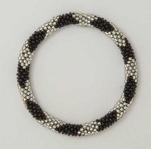 black and grey bracelets