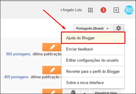 Guia primeiros passos do Blogger - Visual Dicas