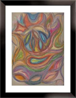 Life: Mask (oil pastels, 1998)