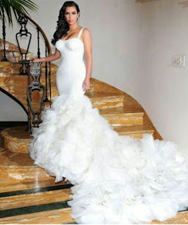 Kim Kardashians wedding gown
