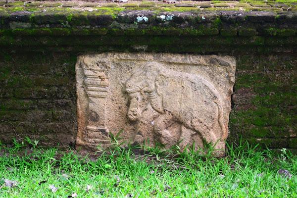 Барельеф с изображением слона, Полоннарува, Шри Ланка