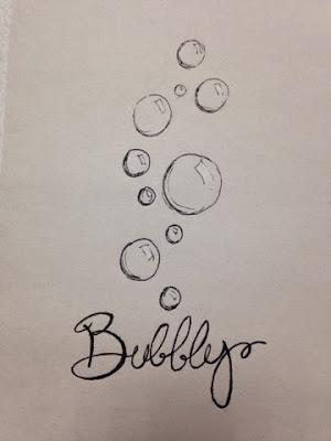 97 Hearts Bubbly drawing