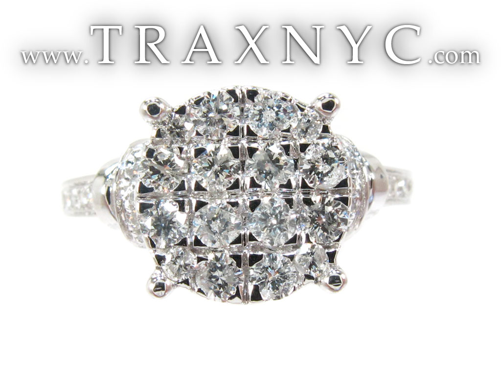 Full Size Picture for White Gold Round Cut Prong Diamond Wedding Ring