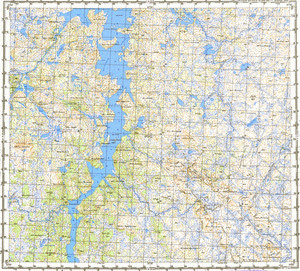 Map 100k--r36-131_132--(1987)