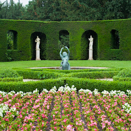 Chateau Garden by Keith Reling - City,  Street & Park  City Parks ( chateau de le hulpe, garden )
