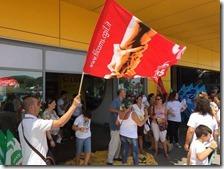 Sciopero dei dipendenti all'Ikea di Afragola