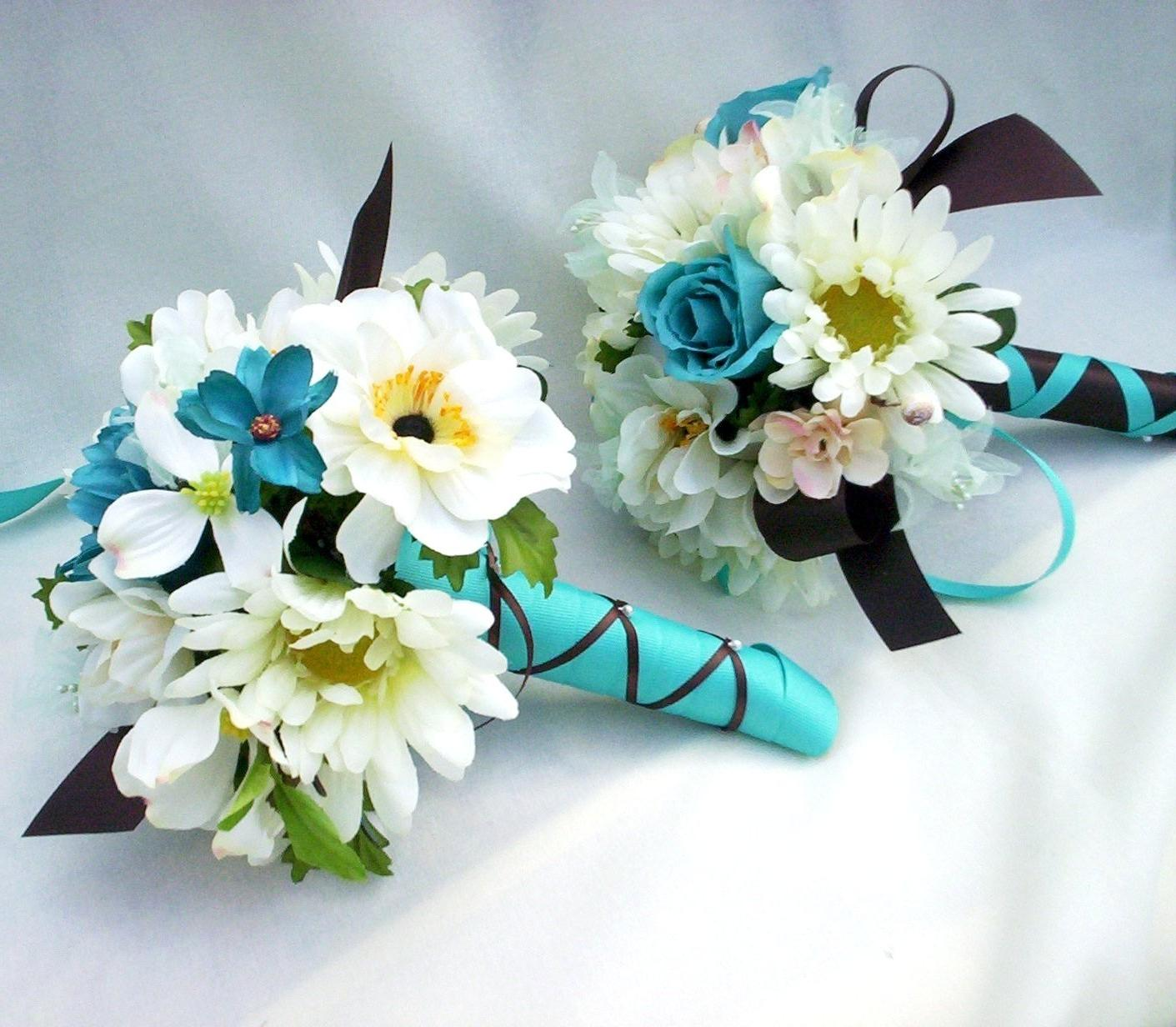 Turquoise Teal Silk Wedding