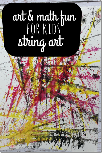 Incredibly Fun String Art kids activities. I love how it uses are & math together.