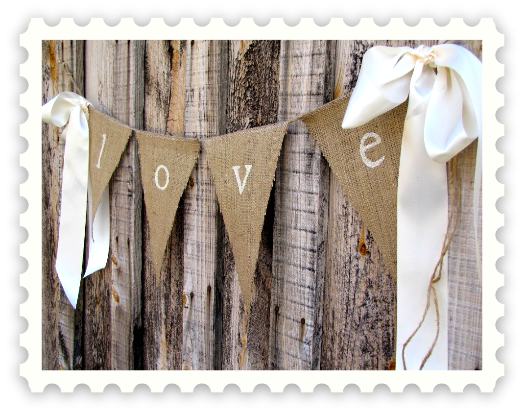 burlap banners and