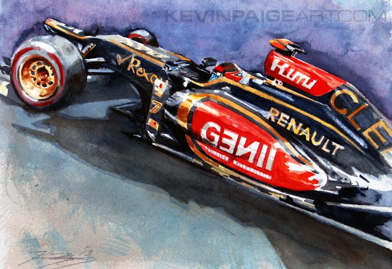 Кими Райкконен Lotus E21 - картина Kevin Paige